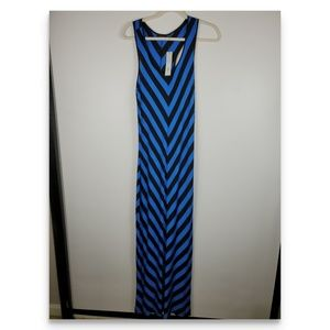 Apt. 9 Maxi Dress Blue and Black Size M